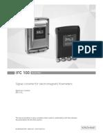 User Manual - IFC 100 Flow Meter