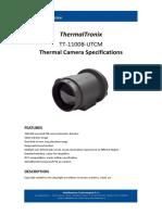 ThermalTronix TT 1100B UTCM Datasheet - THERMAL CAMERAS