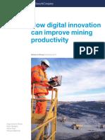 How Digital Innovation Can Improve Mining Productivity