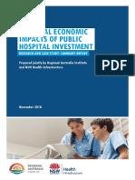 Regional economic impacts of public hospital investment