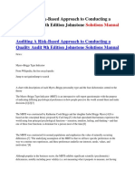 Auditing A Risk-Based Approach to Conducting a Quality Audit 9th Edition Johnstone Solutions Manual