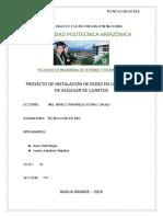 PROYECTO DE INSTALACIÓN DE REDES