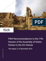 FIDH Recommendations to #ASP17, 5-12 December 2018