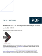 It is Official. the End of Competitive Advantage Forbes