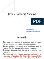 Urban Transport Planning