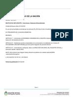 Decreto 1087/2018