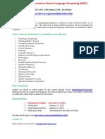 International Journal on Natural Language Computing(IJNLC)