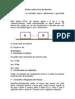 Exercícios resolvidos sobre Leis de Newton.pdf