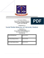Social Media Behavior of University Student