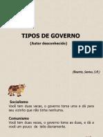 Tipos de Governo