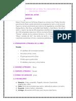 Analisis Literario de La Obra EL CABALLERO DE LA ARMADURA OXIDADA