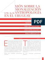 REFLEXIÓN SOBRE LA PROFESIONALIZACIÓN DE LA ANTROPOLOGÍA EN EL URUGUAY.pdf