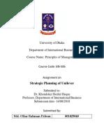 Strategic Planning of Uniliver