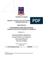 Import Substitution and/or Export Led Growth Necessary for the Economic Development of Bangladesh
