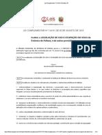 Lei Complementar 714 2015 de Atibaia SP
