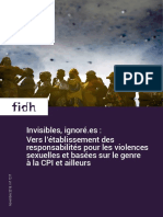 "Rapport FIDH ""Invisibles, ignoré.es"