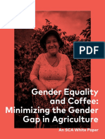 Gender Equality and Coffee Minimizing the Gender Gap in Agriculture Redsize