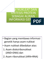 Bahan Kuliah 2 Asam Nukleat Dan Sintesis Protein Sebagai Aliran Informasi Genetik