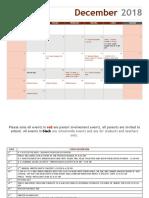 December Parent Calendar