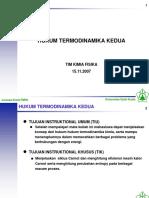 Hukum Termodinamika Kedua