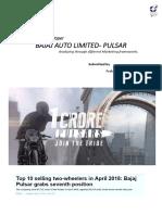 Marketing Reflection Paper - Bajaj Pulsar