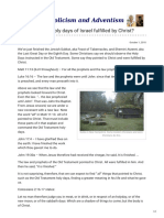 Are the Annual Holy Days of Israel Fulfilled by Christ