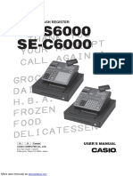 Casio Cash Register SE-C6000