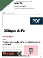 """""""Lobos devoradores"""" e o cristofascismo no Brasil — CartaCapital.pdf"""