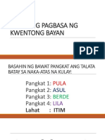 Sabayang Pagbasa Ng Kwentong Bayan