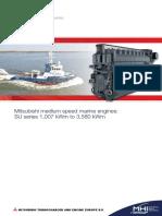 Brochure Mitsubishi Medium Speed Marine Engines SU Series 1007 KWm to 3580 KWm