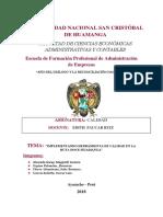 """IMPLEMENTANDO HERRAMIENTA DE CALIDAD EN LA RUTA DOCE-HUAMANGA"""