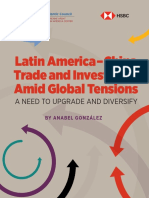 Latin America-China Trade and Investment Amid Global Tensions
