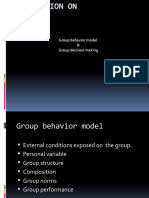 Group Behaviour Model & Group Decesion Making