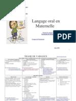 Le Langage Oral en Maternelle