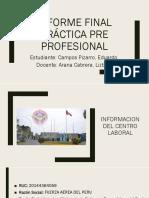 Informe Final Práctica Pre Profesional