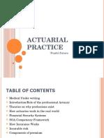 Actuarial Practice(1)