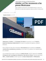 Citibanamex, Deloitte y El Tec Reconocen a Las 99 Mejores Empresas Mexicanas