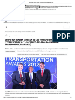 Grupo T21 Realiza Entrega de Los Transportation Awards