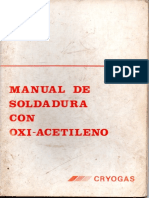 Manual de Soldadura Con Oxi-Acetileno