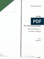 Leandro de Deus - apresentação manuscritos 1861-1863 Karl Marx