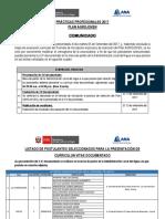Practicas Profesionales 2017 Preliminar -Publicacion Final 2