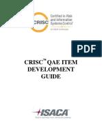 CRISC QAE Item Development Guide Bro Eng 0115