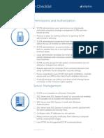 SCCM Security Checklist