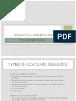 7 Format of Academic Paper