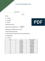 Calculos de Depreciacion