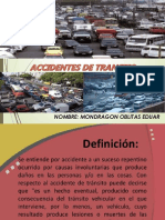 Accidentes de Transito - Mondragon