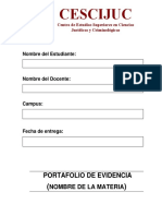 Portafolio de Evidencia