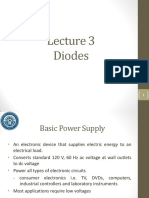 Lecture 3 - Diodes- II