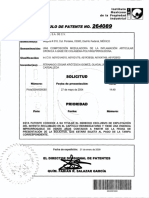 Patente de Colagena