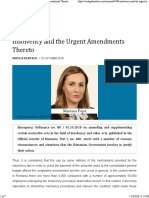 CEE Legal Matters - Insolvency and the Urgent Amendments Thereto